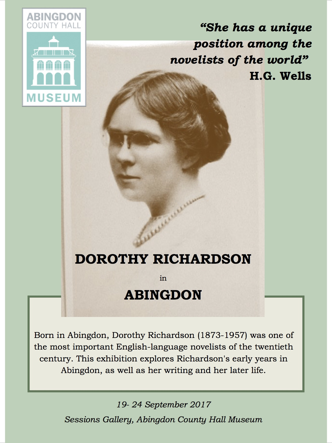 Abingdon Dorothy RIchardson Exhibition